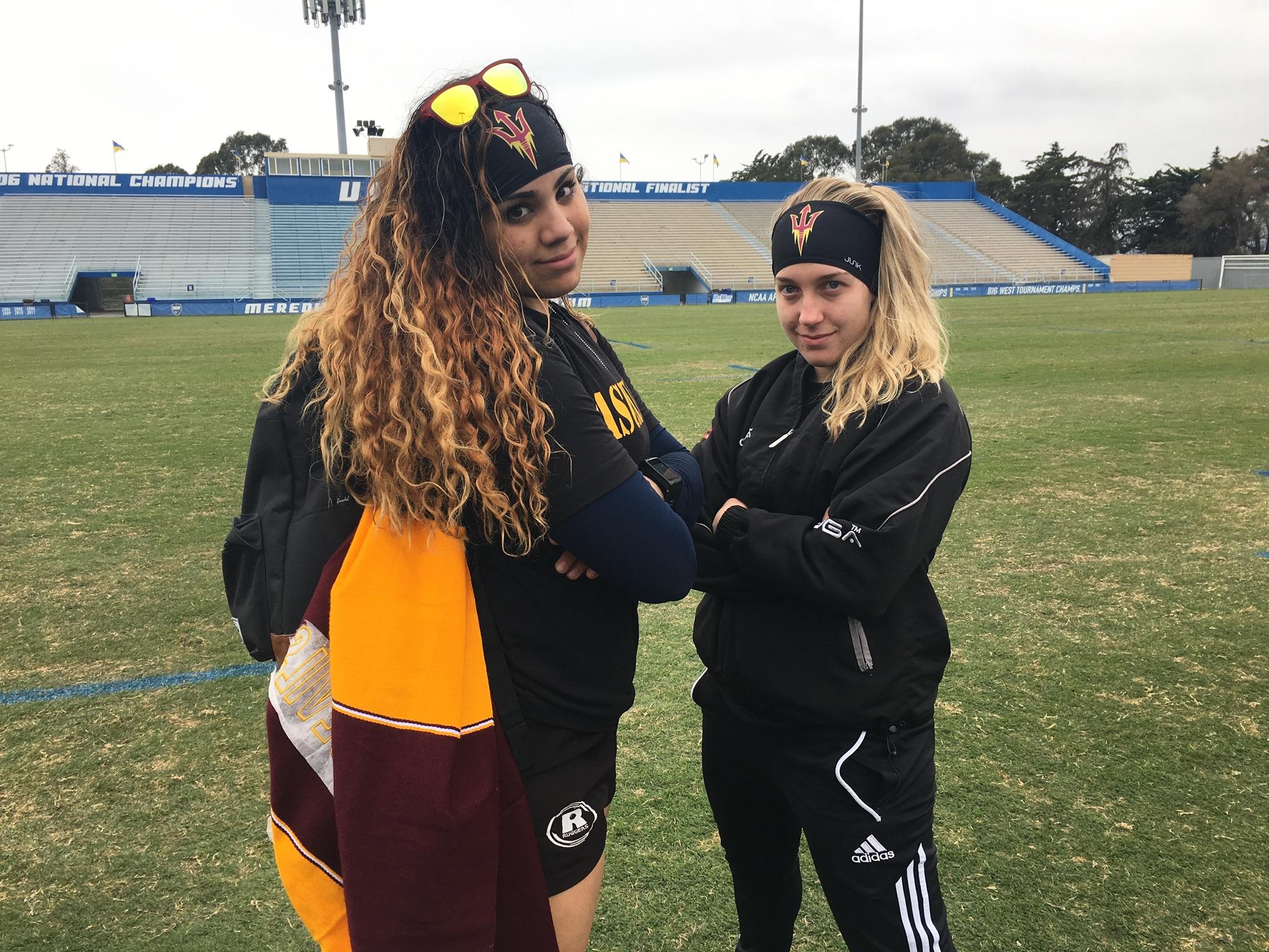 Arizona State University Women's D1 Rugby Team in their JUNK Headbands.